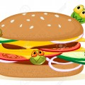 16197255-grande-hamburger-dettagliato-con-i-germi-del-fumetto-su-bianco